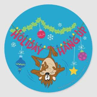 Holiday Hang Up Classic Round Sticker