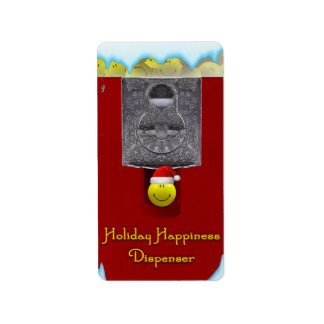 Holiday Happiness Dispenser Labels