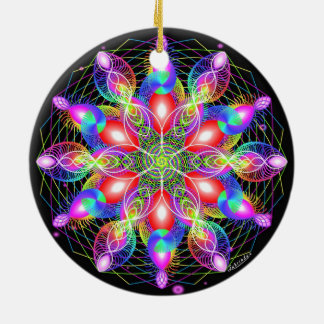 Holiday Happiness/ Whirling Rainbow Christmas Ornament
