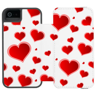 Holiday Hearts Incipio Watson™ iPhone 5 Wallet Case