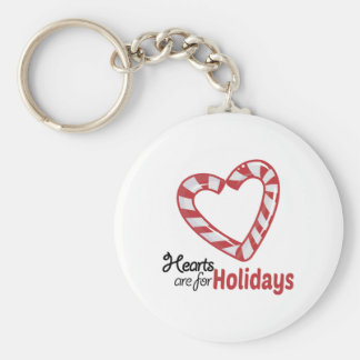 Holiday Hearts Keychains