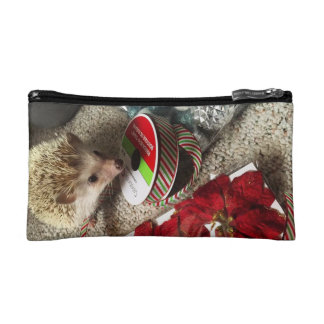 Holiday Hedgehog Small Zip Bag