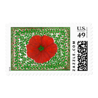 Holiday Hibiscus & Vines Postage Stamps