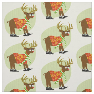 Holiday Hipster Buck Fabric