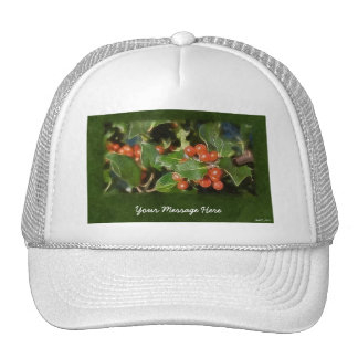 Holiday Holly  Customized Christmas Greeting Cap