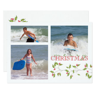 Holiday Holly MULTI Double Sided Card