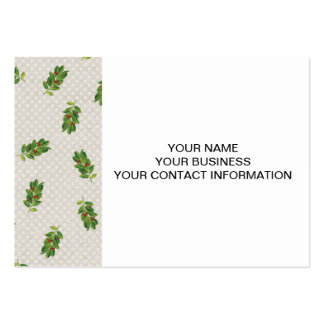 Holiday Holly Pattern Business Card