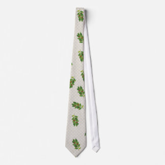 Holiday Holly Pattern Tie