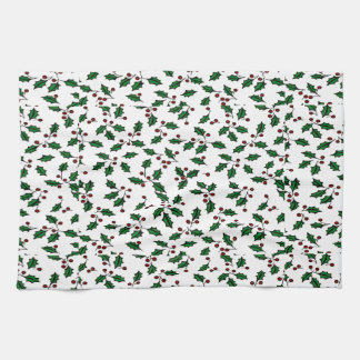 Holiday Holly Tea Towel