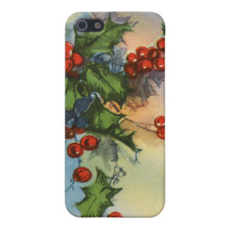 Holiday Holly Watercolor Case For The iPhone 5