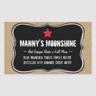 Holiday Home Brew or Moonshine Gift Label