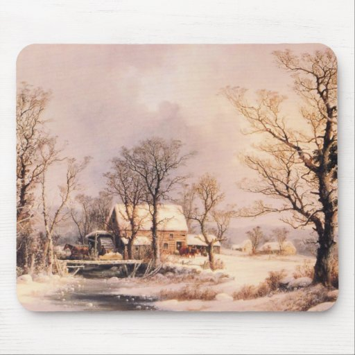 Holiday Horse Country Winter  Destiny Ranch Mousepad