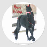 Holiday Horse Envelope Seals Stickers