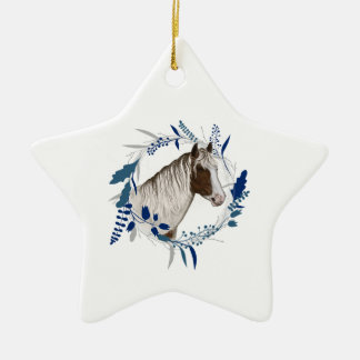Holiday Horse Wreath Christmas Ornament