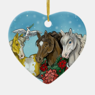 Holiday Horses~horse lover ornament