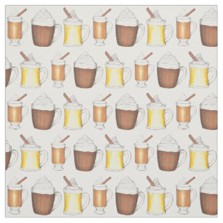 Holiday Hot Cocoa Egg Nog Buttered Rum Fabric