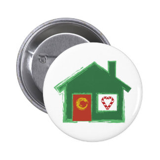 Holiday House Pinback Button