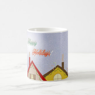 Holiday houses coffee mug