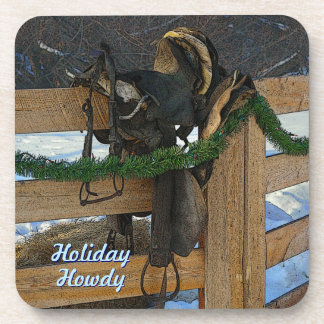 Holiday Howdy Beverage Coasters
