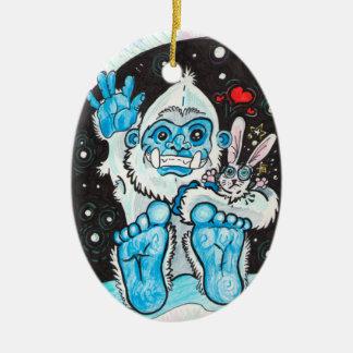 Holiday Hugs Yeti~ornament Christmas Ornament