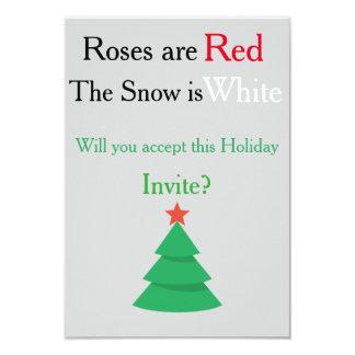 Holiday Invite Poem