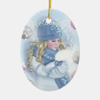 """Holiday Joy"" Christmas Ornament"