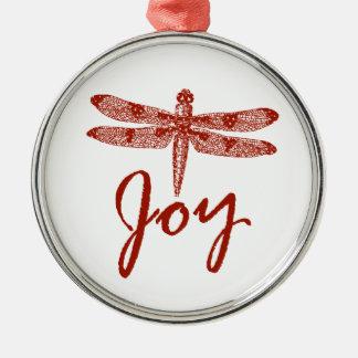 Holiday Joy Dragonfly Christmas Ornament