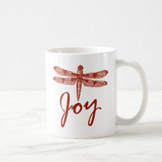 Holiday Joy Dragonfly Coffee Mug