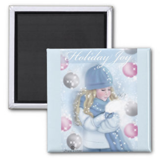 """Holiday Joy"" Magnet"