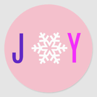 Holiday JOY Sticker label