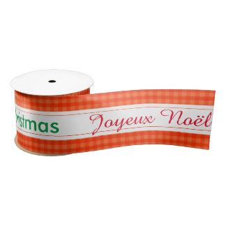 Holiday Joyeux Noël  Merry Christmas  Wrapping Satin Ribbon