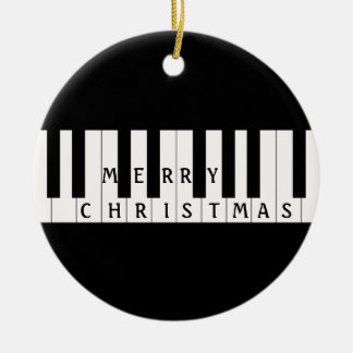 Holiday Keys Piano Christmas Ornament