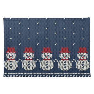 Holiday Knitted Pattern Placemat