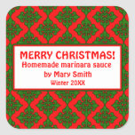 Holiday Labels for Homemade Gifts Sticker