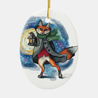 Holiday Lantern Fox Chirstmas Decoration! Christmas Ornament