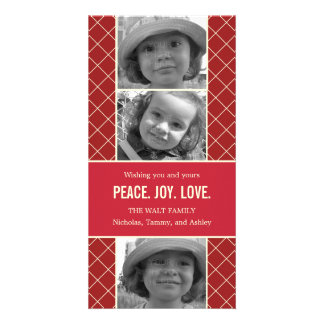 Holiday Lattice Christmas Photo Card Customized Photo Card