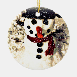 Holiday Let it Snow Adorable Snowman Christmas Ornament