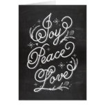Holiday Lettering Greeting Card - Joy Peace Love