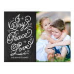 Holiday Lettering Holiday Photo Card Postcard