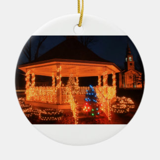 Holiday Lights Bandstand Church Christmas Ornament