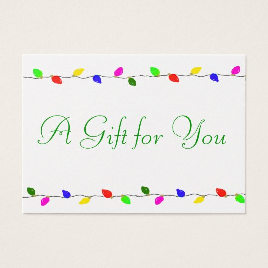 Holiday Lights Corporate Gift Certificate Business