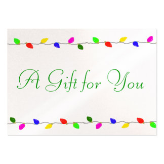 Holiday Lights Corporate Gift Certificate Business Pack Of Chubby Business Cards