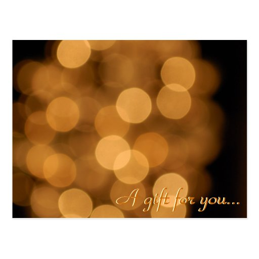 Holiday Lights Gift Certificate Postcards
