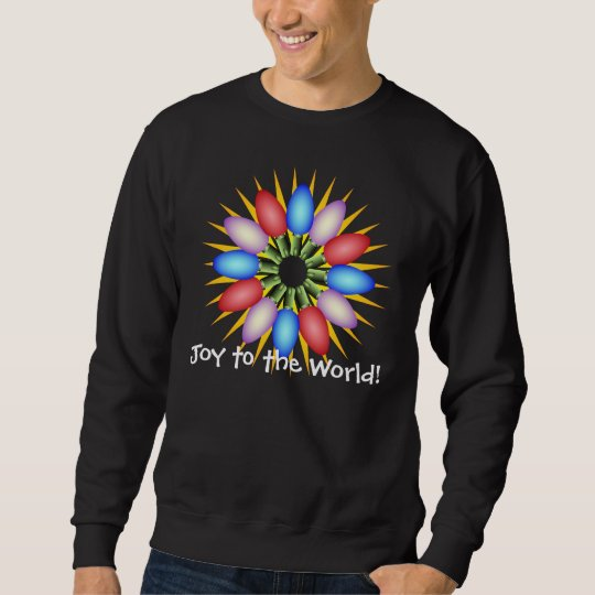 Holiday Lights Multicolored Circle Sweatshirt