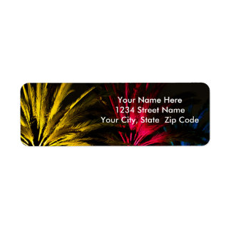 Holiday Lights Palm Trees Return Address Label