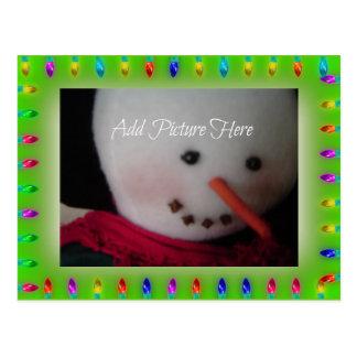 Holiday Lights Photo Card Postcard