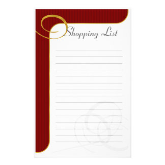 Holiday Lined Stationary Red/Gold Stationery
