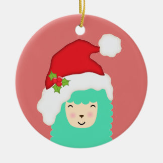 Holiday Llama Christmas Ornament