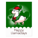 Holiday Llama Elf Postcard