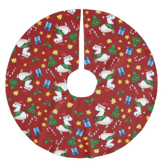 Holiday Llama Madness Brushed Polyester Tree Skirt